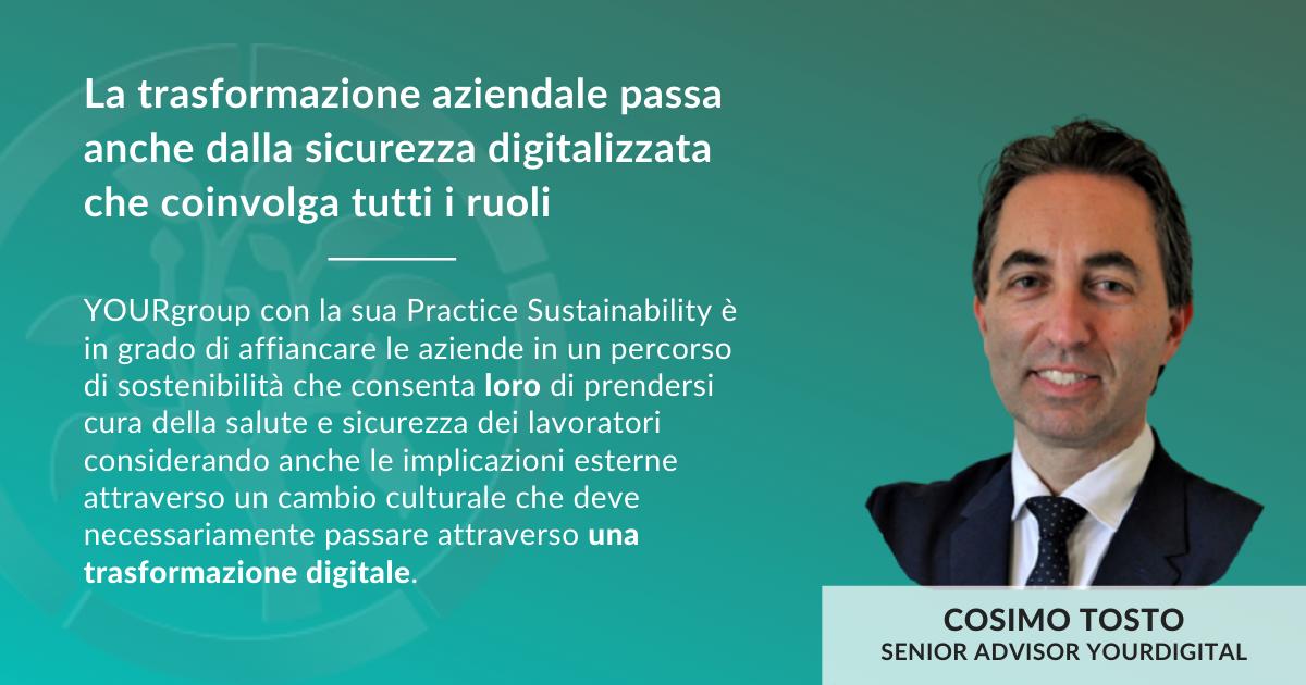 Cosimo Tosto - Sustainability