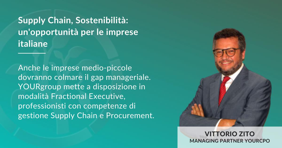 Vittorio Zito Sviluppo Supply Chain in ottica ESG